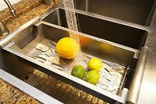 "BOANN Modern Kitchen Sink Colander Fits 18"" Opening, Satin Stainless, X-Large"