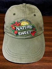 Vintage NatureSweet Tomatoes Strapback Hat Organic Vegetable Gardening Farm Cap