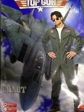 Homme années 1980 TOP GUN Fancy Dress Fighter pilot/aviator Costume Extra Large vente
