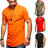 Fashion Men's Short Sleeve Slim Fit Blouse T-Shirt Summer Casual Muscle Tee Tops