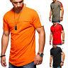Men Splicing Gym T-shirt Summer Slim Fit Short Sleeve Casual Tee Color Block Top