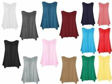 Casual Sleeveless Viscose Tops & Shirts Plus Size for Women