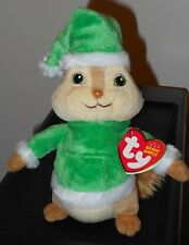 CT* Ty Beanie Baby ~ THEODORE w/ Holiday Hat (ALVIN and the Chipmunks) ~ MWCT