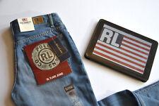 RALPH LAUREN NEW Women's Retro Shark Light Blue Jeans - Flared W27 L33 BNWT