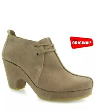 3110d876c0294 Clarks Ladies Serin Snow Mushroom Suede Ankle Boots UK 5.5D