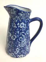 Ceramic Blue and White Floral Pitcher