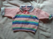 Playmates - Original Pink Striped Knit Sweater For Cricket Doll - Euc