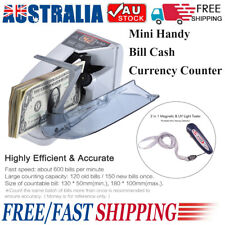 Handy Bill Cash Banknote Counter Money Currency Counting Machine + Money Checker