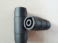 Adaptateur Speakon 2x prise femelle pour connexion branchement 2 câbles PA audio