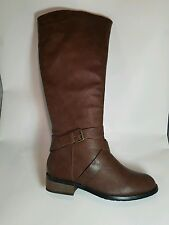 Bucco Capensis Venita Brown Women's Knee Riding Boot SIZE 7 BOX IS DISTRESSED