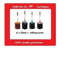 A Set Of refill kits for HP65xl Black+Colour ink cartridges For HP Printers