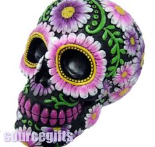 NEW SUGAR PETAL SKULL DAY OF THE DEAD ORNAMENT FIGURINE GOTHIC nemesis U2103