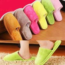 Men Women Slippers Slip On Plush Soft Winter Warm Ladies Home Indoor Comfy Shoes