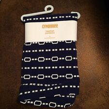 Gymboree Navy and white chain/dash design everyday leggings size 6 years NWT