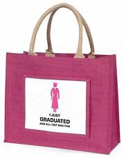 Graduation 'All I Got Was This' Large Pink Shopping Bag Christmas Pre, GRAD-8BLP