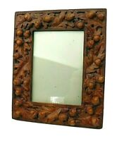 Vintage Frame by Toyo Made in Korea Composit Fall Oak Leaves Acorns w Easel Back
