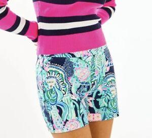 Lilly Pulitzer Malie Stretch Short Multi Lookin Sharp Size 6