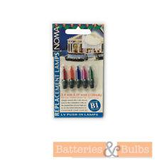 Noma B1 2.4V 0.29W Coloured Static Christmas Fairy Light Bulbs | Pack of 5