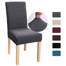 1/4/6/8pcs Elastic Stretch Chair Slipcovers Dining Room Seat Furniture Cover