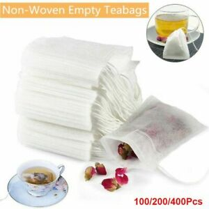 100-400Pcs Empty Tea Bags with String Heal Seal Filter Paper Herb Loose Tea Bags
