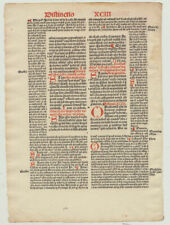 Postinkunabel Inkunabel rot /schwarz BUCHDRUCK um1510 Textblatt LATEIN Initialen