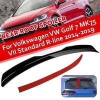 Rear Roof Wing Spoiler Black For Volkswagen VW Golf 7 MK7.5 VII GTI R Rline 14+
