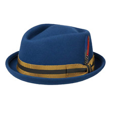 Stetson Kentaro Wool Pork Pie Trilby Blue