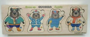NIB Quokka Bear Family Dress-up Puzzle 3+Years 72 Pieces Wooden box Sealed
