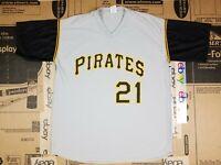Roberto Clemente #21 Pittsburgh Pirates Gray MLB Baseball Jersey Adult XL