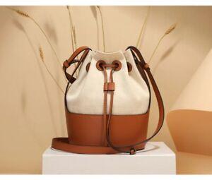 balloon raffia bucket Leather Small  bag