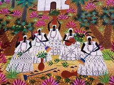 Tableau Art Naïf Brésilien signé Wilson Gouvêa 87 - Parfait état