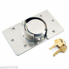 NEW VAN LOCK PADLOCK 73MM SECURITY PADLOCK HASP SET CHROME PLATED SILVERLINE