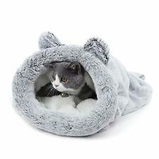 Cute Soft Cat Sleeping Bag Fleece Soft Self Warming Washable Snuggly Bed