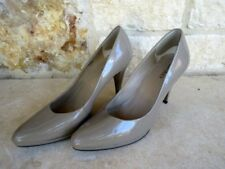 Ellen Tracy Cody Women's Nude Taupe Patent Leather Pumps Heels Size 9 1/2 M