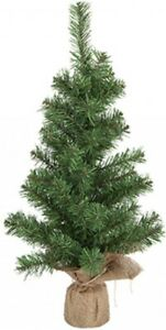 Artificial Christmas Tree Norway Pine 60cm Tall Tree Jute Wrap Base 61 Tips
