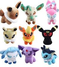 9pcs Pokemon Evolution of Eevee Plush Set Sylveon Eeveelution Toy Stuffed Doll