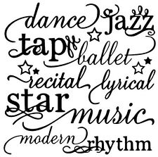 DANCE Words Lettering Wall Decal Subway Art Sticker Quote Saying  Decor