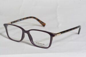 NEW COACH Authentic HC6077 5335 (Purple Dark Tortoise) EYEGLASSES RX 51-15-135