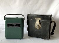 Vintage Green Metal Cowley Automatic Level & Leather Case Engineering Surveying
