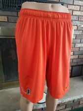 University Of Miami Hurricanes Nike Dri Fit Football Shorts Mens S Baseball FL