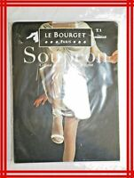 LE BOURGET SOUPçON Taille 1 CANNELLE NEUF Collant Satiné 15 D Tights