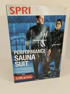 """SPRI L/XL Performance Sauna Suit Fit L/XL Fit Waist Size 36"""" To 44"""" NEW IN BOX!"""