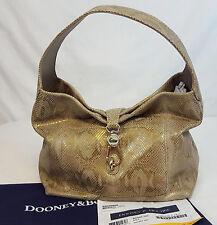 Dooney & Bourke SNAKE POCKET SAC Gold Embossed LEATHER Hobo Handbag #SX547 LN