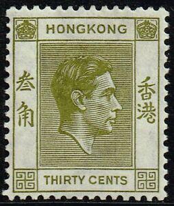 Hong Kong 1938 30c. yellow-olive, MH (SG151)