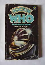 DOCTOR WHO AND THE GIANT ROBOT  1981 PAPERBACK BY TERRANCE DICKS - GOOD COND.