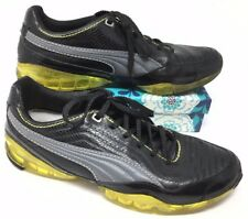 Men's Puma Cell Size 9 Sneakers Shoes Running Fitness Black Gray Yellow I14