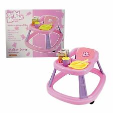 Casdon Toy Baby Walker diner Huggles Includes Toy Bowl CUTLERY & Baby Food New