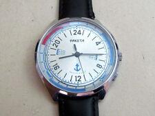 RAKETA PAKETA 24 hours NOTHERN POLE ARCTIC USSR vintage men's mechanical watch