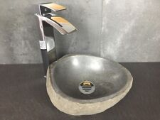 River stone vessel sink #80004