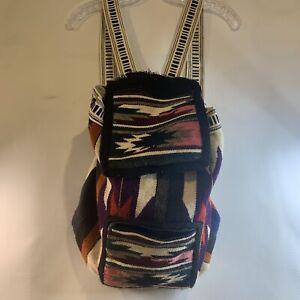 Handmade AZTEC Design Backpack Book Bag